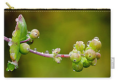 Rain Drops On A Stem Carry-all Pouch