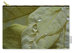Rain Drops On A  White Poinsettia Carry-all Pouch