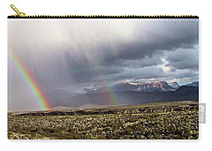 Rain In The Desert Carry-all Pouch by Dennis Ciscel
