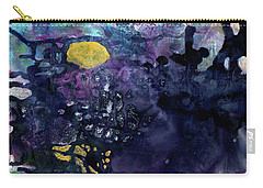 Rain On A Sunny Day - Colorful Dark Contemporary Abstract Carry-all Pouch