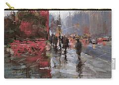Rain On Sixth Avenue Carry-all Pouch