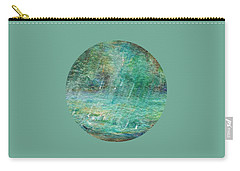 Carry-all Pouch featuring the painting Rain On The Pond by Mary Wolf