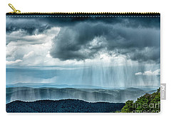 Carry-all Pouch featuring the photograph Rain Shower Staunton Parkersburg Turnpike by Thomas R Fletcher