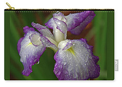 Rain-soaked Iris Carry-all Pouch