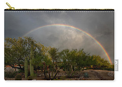 Carry-all Pouch featuring the photograph Rain Then Rainbows by Dan McManus
