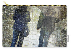 Carry-all Pouch featuring the photograph Rain Through The Fountain by LemonArt Photography