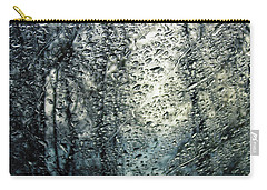 Rain - Water Droplets On The Window Carry-all Pouch