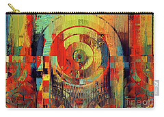 Carry-all Pouch featuring the digital art Rainbolo - 01t01ii by Variance Collections