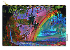 Rainboow Drenched In Layers Carry-all Pouch by Catherine Lott