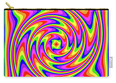 Carry-all Pouch featuring the digital art Rainbow #2 by Barbara Tristan
