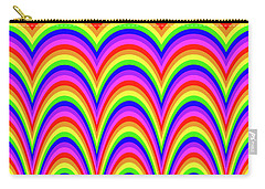 Carry-all Pouch featuring the digital art Rainbow #4 by Barbara Tristan