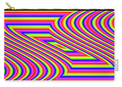 Carry-all Pouch featuring the digital art Rainbow #5 by Barbara Tristan