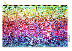 Rainbow Abstract Swirls Carry-all Pouch