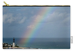 Rainbow At Lighthouse Carry-all Pouch