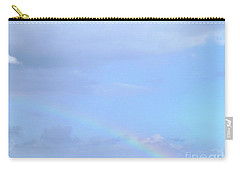 Carry-all Pouch featuring the digital art Rainbow At The Beach 1 by Francesca Mackenney