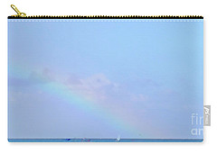 Carry-all Pouch featuring the digital art Rainbow At The Beach 2 by Francesca Mackenney