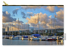 Rainbow Bay Marina II Carry-all Pouch by Gina Savage