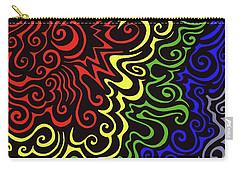 Rainbow Burst Tribal Carry-all Pouch