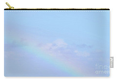 Carry-all Pouch featuring the digital art Rainbow Clouds And Sky by Francesca Mackenney
