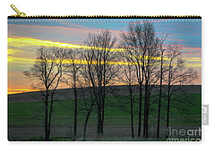 Rainbow Color Tree Horizon Carry-all Pouch