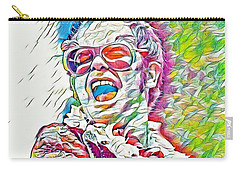 Rainbow Colors Elton John Carry-all Pouch by Pd