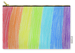 Rainbow Crayon Drawing Carry-all Pouch by GoodMood Art