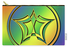 Carry-all Pouch featuring the digital art Rainbow Design 1 by Chuck Staley