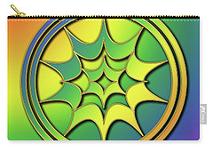 Carry-all Pouch featuring the digital art Rainbow Design 5 by Chuck Staley