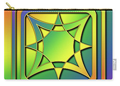 Carry-all Pouch featuring the digital art Rainbow Design 6 by Chuck Staley