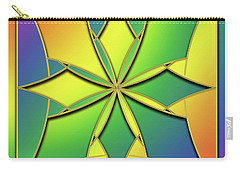 Carry-all Pouch featuring the digital art Rainbow Design 8 by Chuck Staley