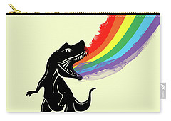 Rainbow Dinosaur Carry-all Pouch by Mark Ashkenazi