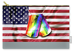 Rainbow Dog Tags Carry-all Pouch
