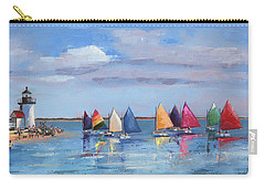 Rainbow Fleet Parade At Brant Point Carry-all Pouch by Trina Teele