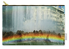 Carry-all Pouch featuring the photograph Rainbow Fountain In Vienna by Mariola Bitner