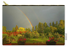Rainbow From The Back Deck Carry-all Pouch