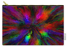 Rainbow Grunge Abstract Carry-all Pouch