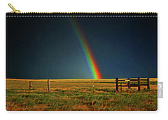 Carry-all Pouch featuring the photograph Rainbow In A Field 001 by George Bostian