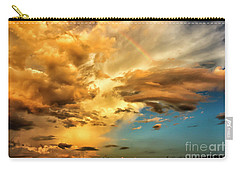 Rainbow In Sunset Clouds Carry-all Pouch by Thomas R Fletcher