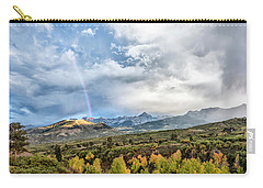 Carry-all Pouch featuring the photograph Rainbow In The San Juan Mountains by Jon Glaser