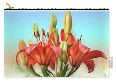 Carry-all Pouch featuring the photograph Rainbow Lilies by Lois Bryan