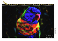 Rainbow Lorikeet - Fractal Carry-all Pouch