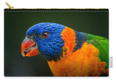 Rainbow Lorikeet Carry-all Pouch by Racheal  Christian