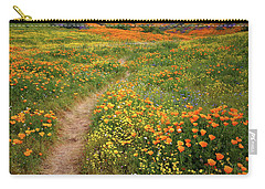 Rainbow Of Wildflowers Bloom Near Diamond Lake In California Carry-all Pouch