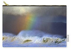 Rainbow On The Banzai Pipeline At The North Shore Of Oahu 2 To 1 Ratio Carry-all Pouch