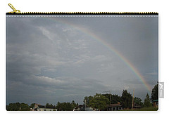 Rainbow Over Beach Cottages Carry-all Pouch
