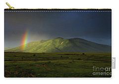 Rainbow Over Mount Ara After Storm, Armenia Carry-all Pouch