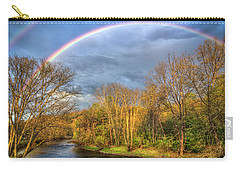 Carry-all Pouch featuring the photograph Rainbow Over The River by Debra and Dave Vanderlaan
