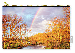 Carry-all Pouch featuring the photograph Rainbow Over The River II by Debra and Dave Vanderlaan