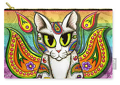 Rainbow Paisley Fairy Cat Carry-all Pouch