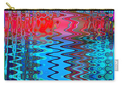 Carry-all Pouch featuring the digital art Rainbow Riffles by Adria Trail